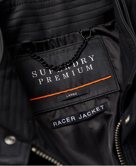 Superdry Premium Leather Racer Jacket