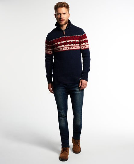 Superdry Malmo Henley Jumper Men's Sweaters