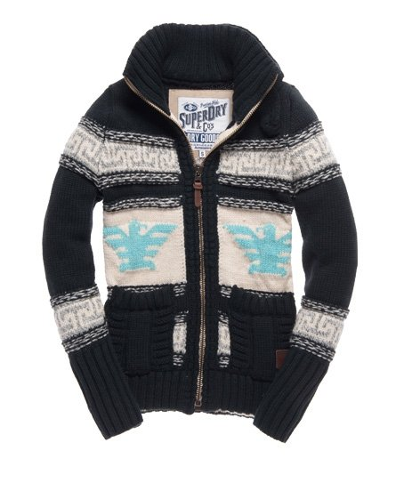 Superdry Big Zip Buffalo Strickjacke Damen Strickmode