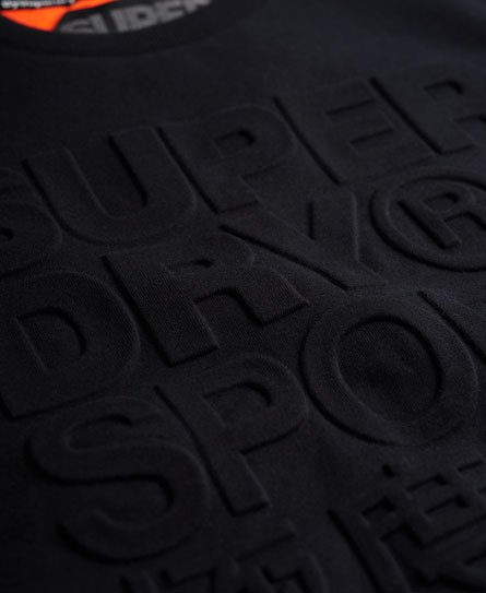 Superdry Gym Tech Embossed genser med rund hals