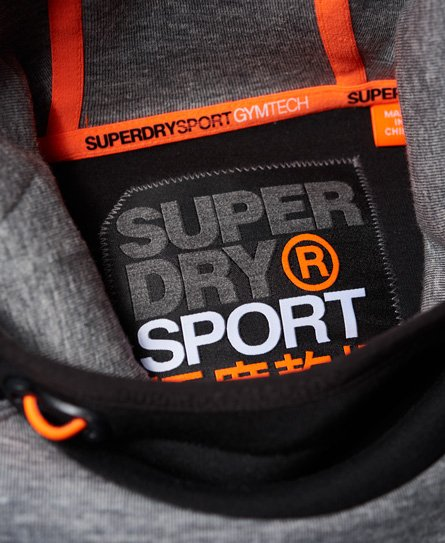 Superdry Felpa con cappuccio e stampa in rilievo Gym Tech