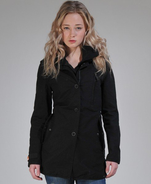 black trench coat women superdry
