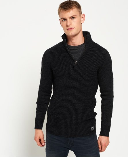 Superdry Pull col tunisien texturé Harlo