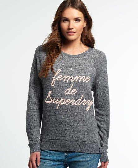 Superdry Applique Raglan Crew Sweatshirt