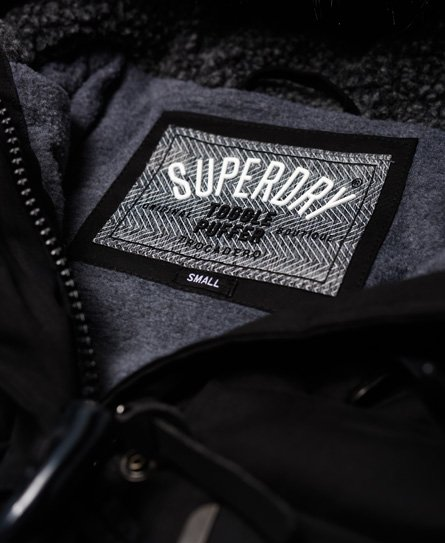 Superdry Lang Microfibre Toggle Puffle jakke