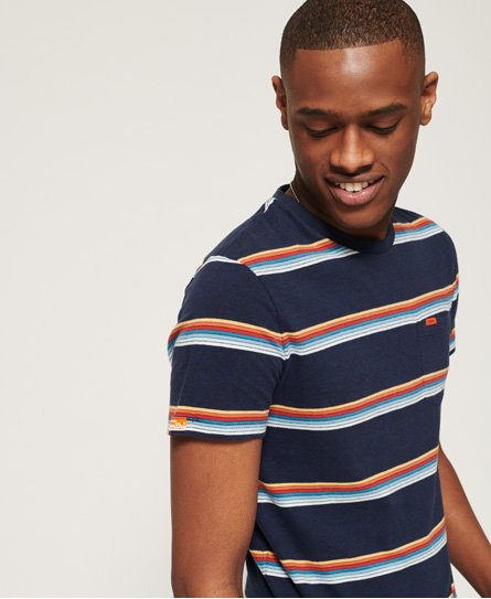 Superdry Orange Label Cali Surf Stripe T-Shirt