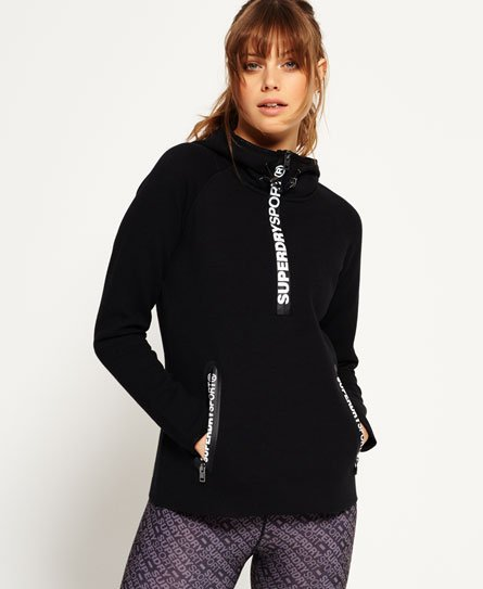 Superdry Gym Tech Half Zip Hoodie