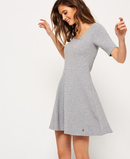Superdry Wave Textured Skater Dress