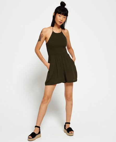 Superdry Evelyn Smocked-playsuit