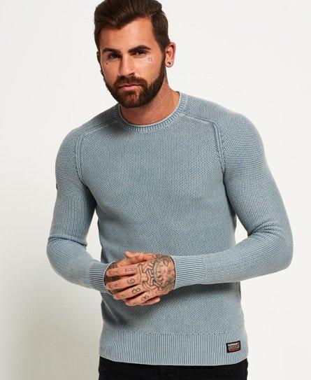 Superdry Garment Dyed LA Textured Crew Jumper