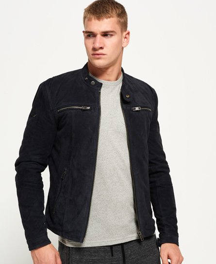 Superdry Real Hero Suede Biker Jacket