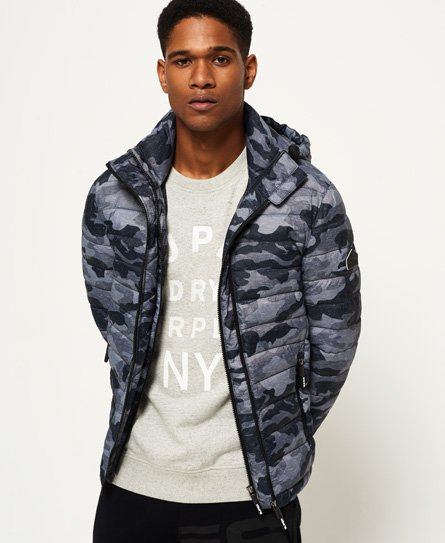Superdry Printed Fuji Double Zip hooded Jacket
