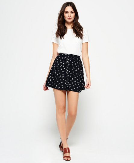 Superdry 90's Martime Button Skirt