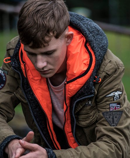 Superdry Rookie Limited Edition Military Jacke Herren