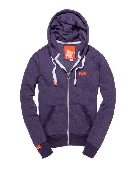 Superdry Mens Orange Label Classic Zip Hoodie