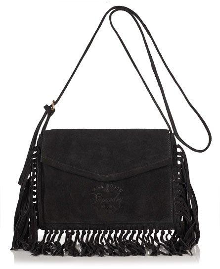 Premium Suede Neo Nomad Fringed Shoulder Bag
