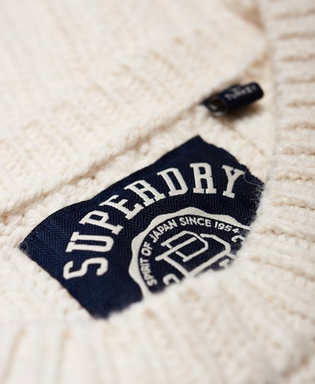 Superdry Pull en maille ample Varsity