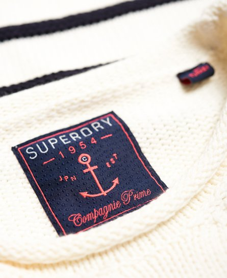 Superdry Damen Marine Stripe Slouch Strickpulli
