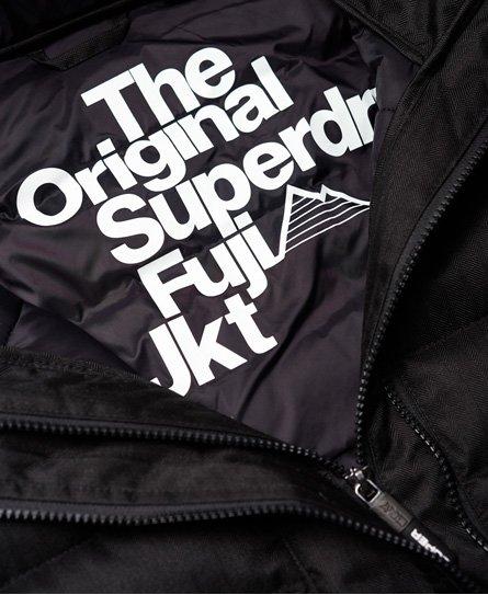 Superdry Fuji tweedjakke med hætte og dobbelt lynlås