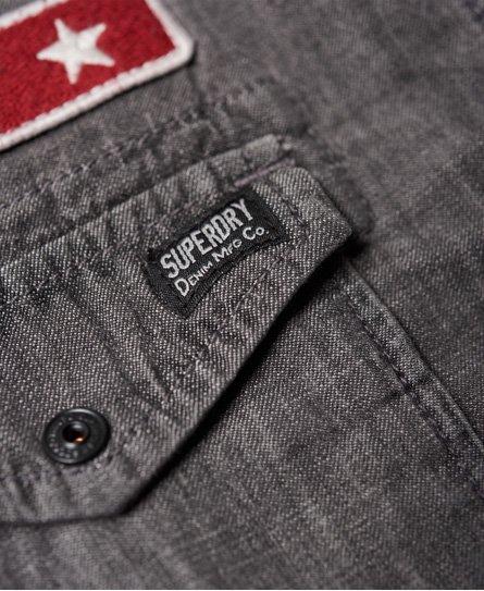 Superdry Dragway Patch Denim Shirt