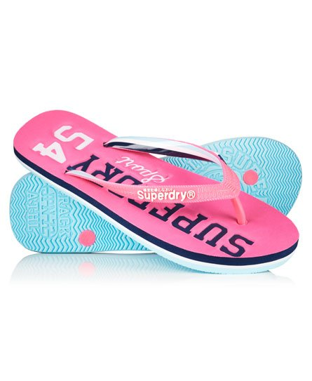 Womens - Track  Field Flip Flops In Bright Fluro Pink -6970