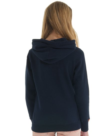 Womens - tokyo applique hoodie in Imperial Navy  27e3cac366