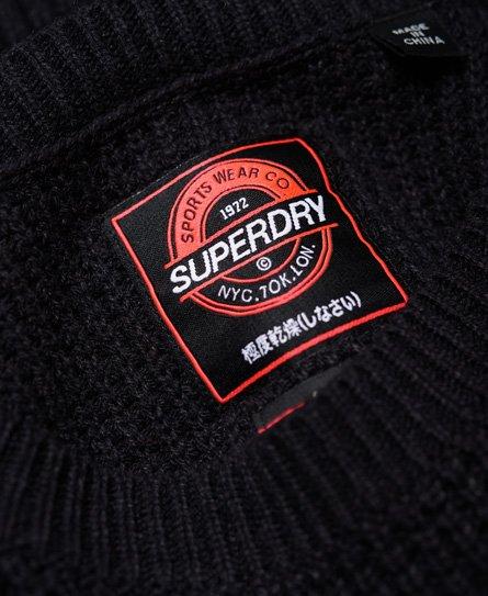 Superdry Varsity Cold Shoulder Knit Jumper