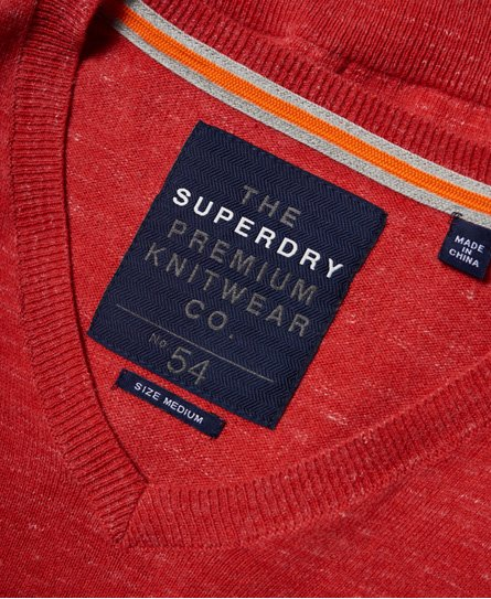 Superdry Pull col en V Orange Label