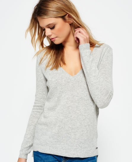 Superdry Luxe Vee Neck Knit Jumper