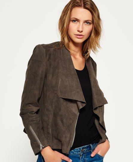 Suede Cascade Jacket