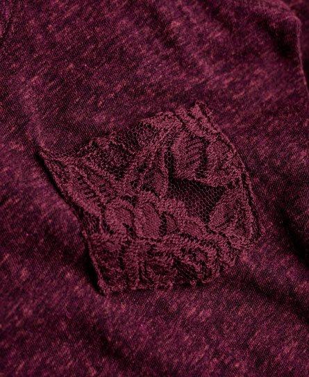 Superdry Incontournable robe mi-longue brute à dentelle