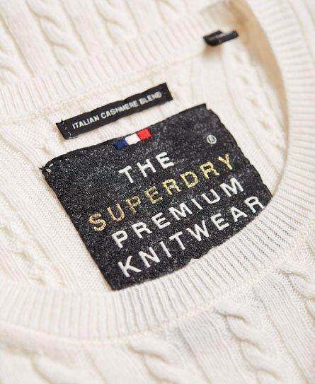 Superdry Pull en maille fine torsadée Luxe