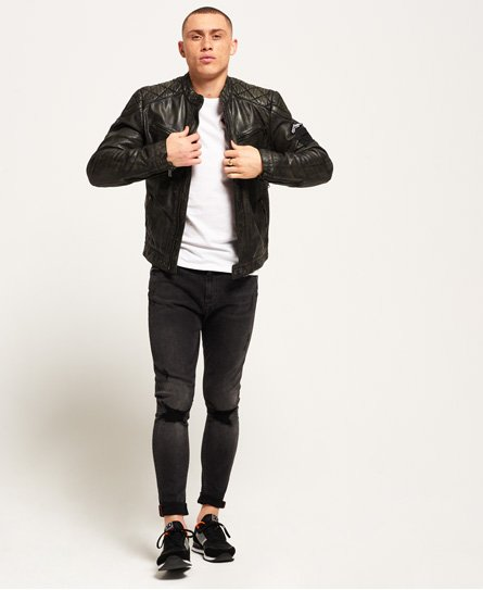 Superdry SD Endurance Track Leather Jacket