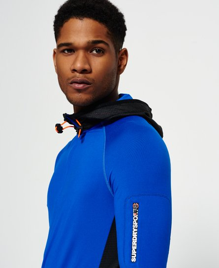 Superdry Sudadera con capucha y media cremallera Sports Athletic