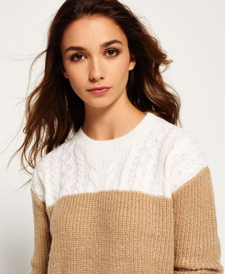 Superdry Brooklyn Colour Block Knit Jumper