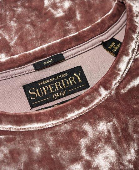 6b70469b Superdry Orton fløyelstopp - Dame Topper
