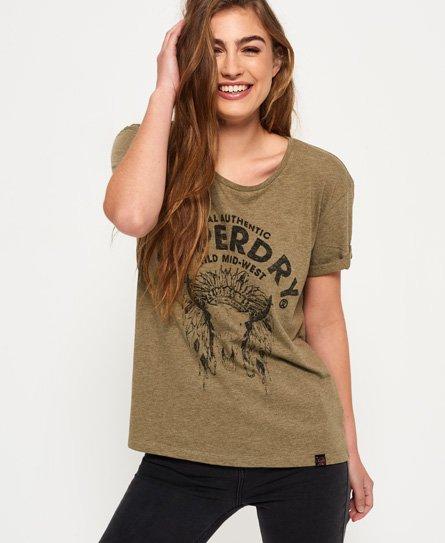 Superdry T-shirt coupe boyfriend Wild West