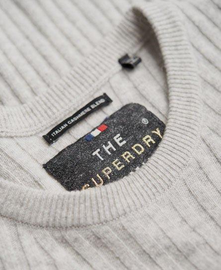 Superdry Pull en maille de laine côtelée Luxe