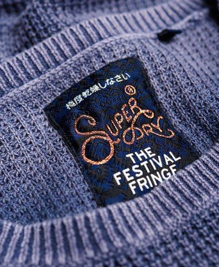 Superdry Waffle Stitch Cold Shoulder Knit Jumper