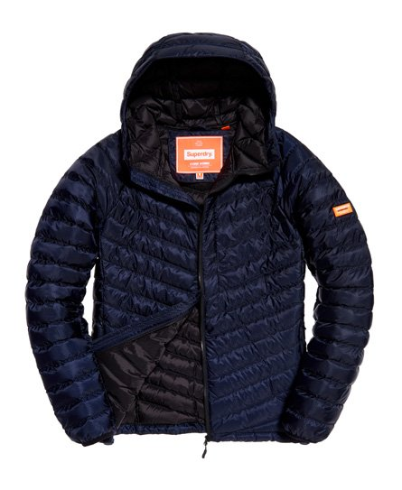 Superdry Micro Quilt Hooded Down Jacket