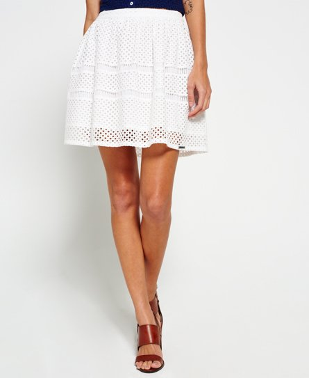 Superdry Geo Lace Mix Skater Skirt
