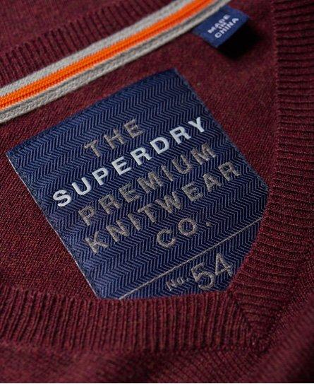 Superdry Pull à col V Orange Label