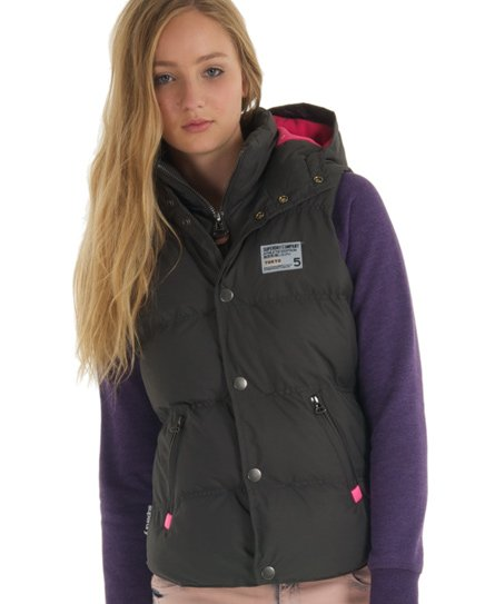 new style a5682 7fc53 Superdry Camping Weste mit Kapuze - Damen Westen