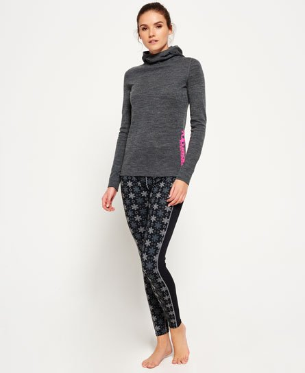 Superdry All Over Print Carbon Base Layer Leggings