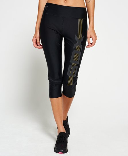 8555e1bddae0c4 Womens - SD-X Capri Leggings in Black | Superdry