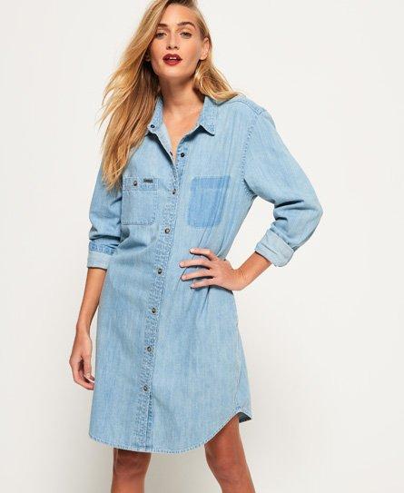 Jeans-Hemdkleid in Übergröße