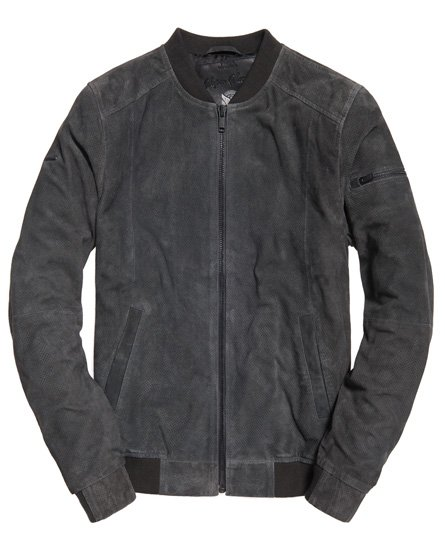 Superdry Ryan Sports Suede Bomber Jacket
