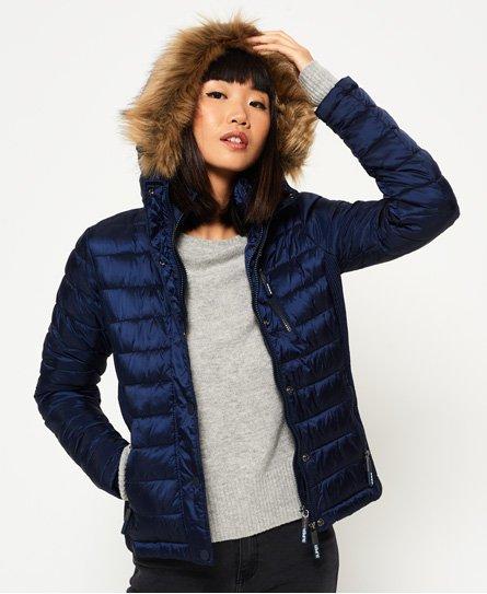 Superdry Luxe Fuji jas met dubbele rits en capuchon Jacks