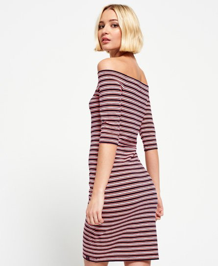 Superdry Breton Bardot Stripe Dress