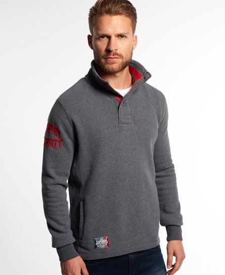 Superdry Core Applique Tipped Henley Top